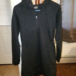 Gymshark fleece hood dress black sz S NEVER WORN